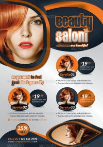hair salon flyers professional beauty salon flyer template indd format