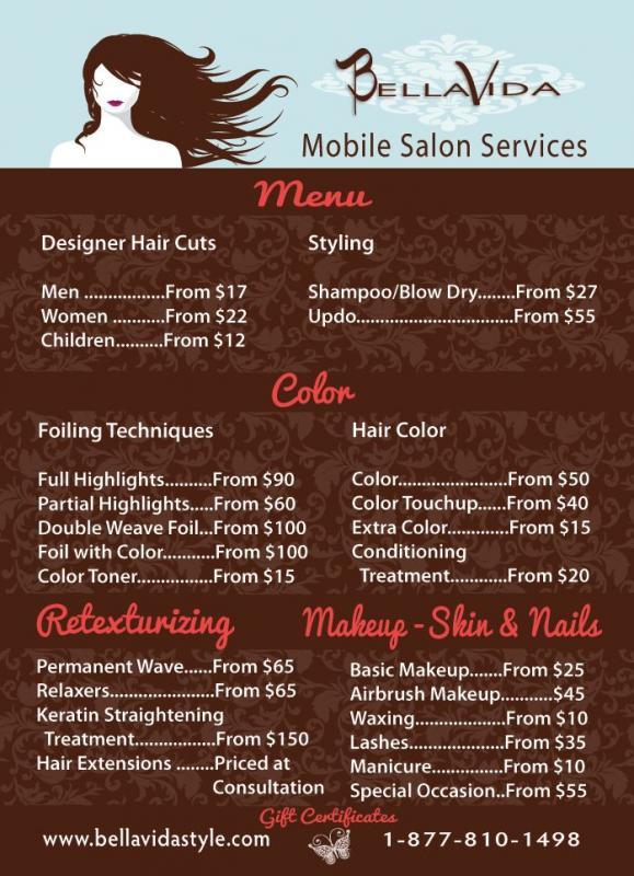 hair salon websites