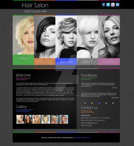 hair salon websites hair salon website design template by thsensedesign dmys