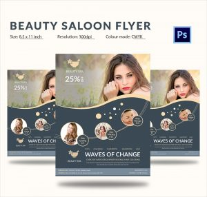 hair saloon websites flat style beauty salons advertising psd flyer
