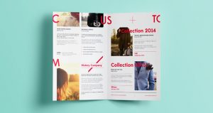 half fold brochure template half fold bifold brochure print template mockup presentation psd free
