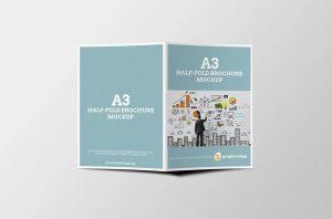 half fold brochure template free a brochure mockup