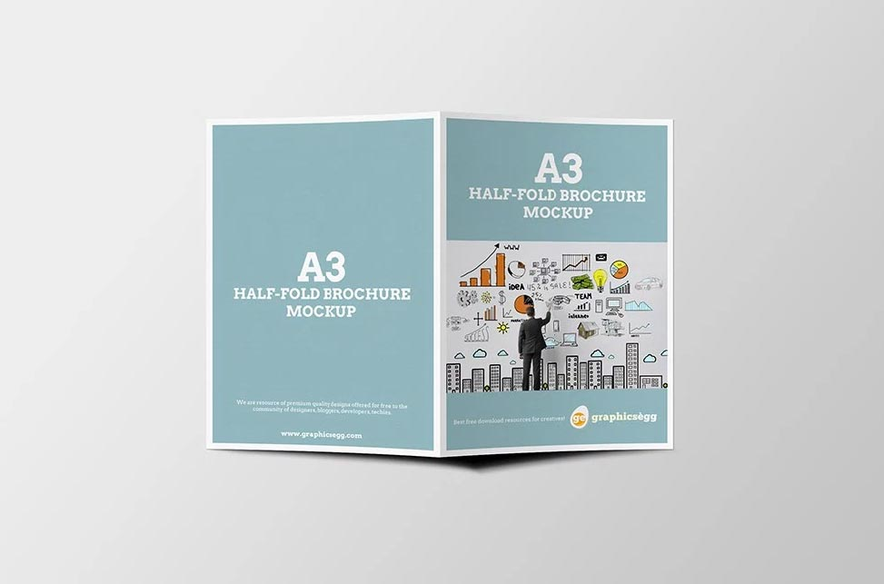 Half Fold Brochure Template Template Business - Foldable brochure template