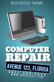 half page flyer template computer repair flyer template fbeacececccdec