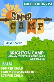 half page flyer template summer camp poster template adcfaecccbdb