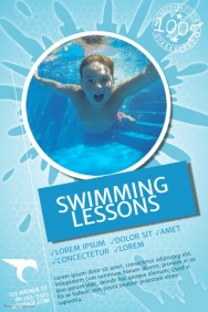 half page flyer template swimming lessons poster template bdfcfedbeafd