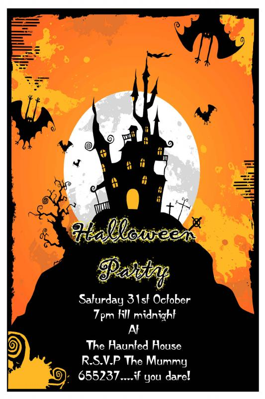 halloween party invitations templates
