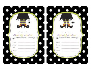 halloween party invitations templates spooktacular invite