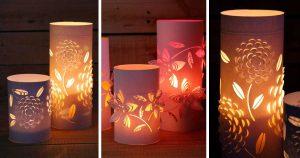 halloween web site návod na krásný svícen z papíru