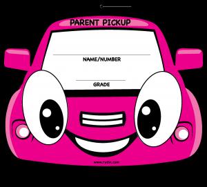 hang tag template parent pickup visor tag web