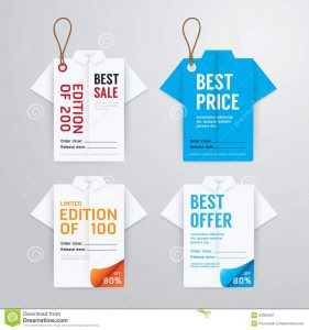 hang tag template sale banners price tag paper card template shirt origami collection vector