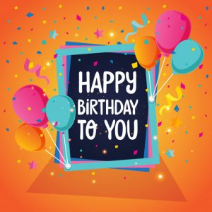 happy birthday card template balloon theme happy birthday card illustration