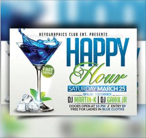 happy hour flyer happy hour flyer design template