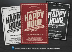 happy hour flyer preview f