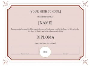high school diploma template high school diploma template x