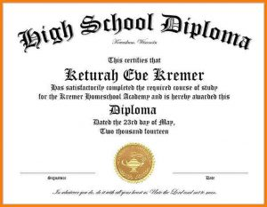high school diploma template high school diploma template word