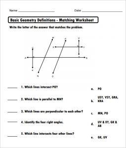 high school geometry high school basic geometry worksheet template