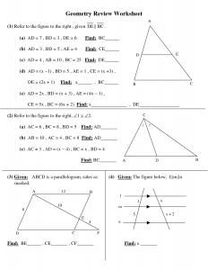 high school geometry high school geometry worksheets