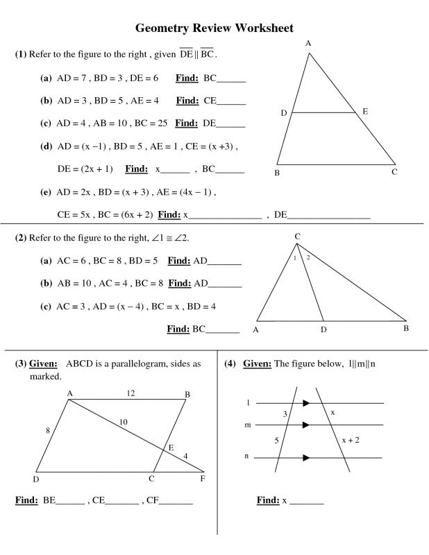 High School Geometry Template Business