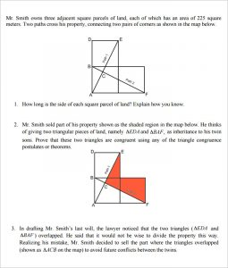 high school geometry the inheritance high school geometry worksheet template