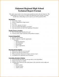 high school report card template technical report template