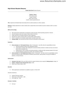 high school resume examples high school resume skills