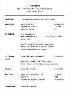 high school resume examples sample high school student resume cv templa