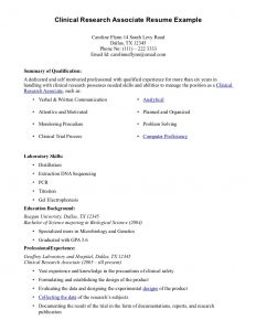 high school resume sample clinical research assistant resume