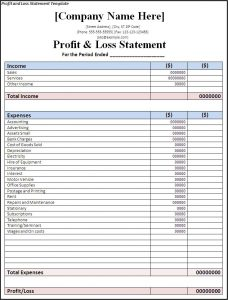 high school resume sample profit and loss statement template uurklfer