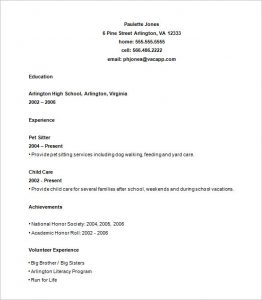 High School Resume Template  Resume Templates High School