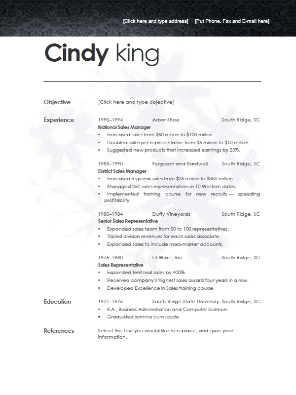 high school resume templates