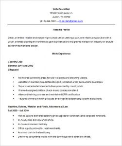 high school resumes high school resume template word
