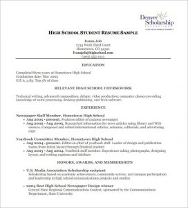 high school resumes high school student resume pdf free download