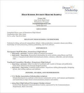 high school resumes high school student resume pdf free download