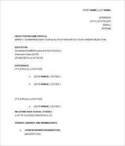 high school resumes resume template high school student academic