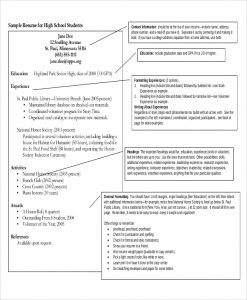 high school student resume examples high school student resume example