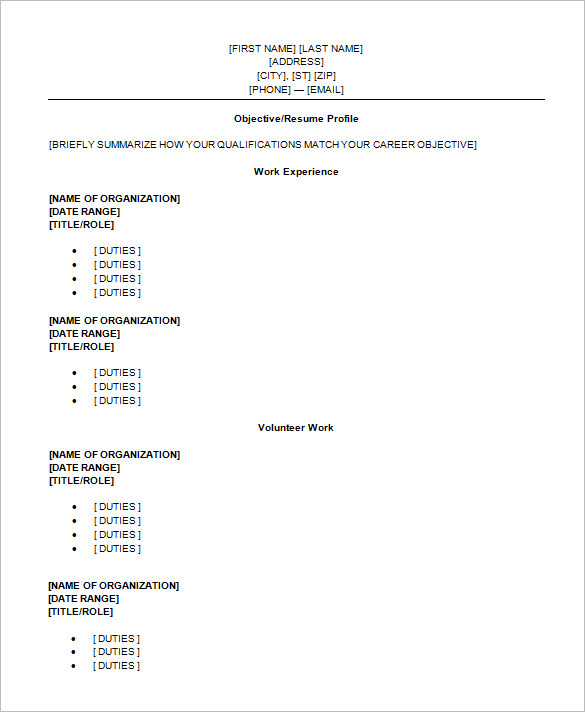 Charmant High School Student Resume Template