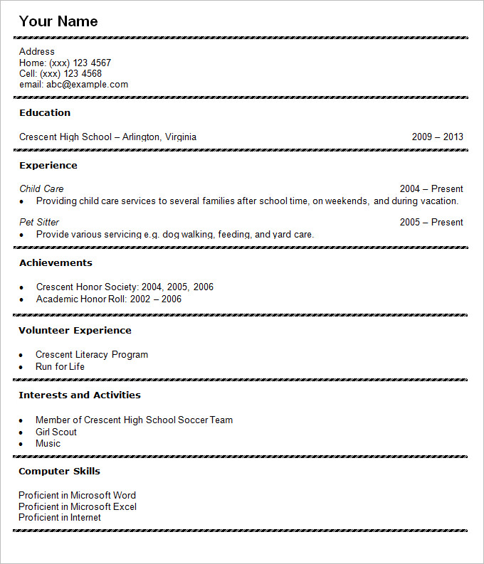 high school student resume template - How To Write A Resume For Students In High School