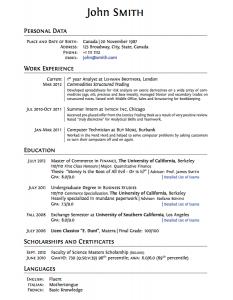 high schooler resume cv