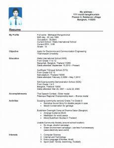 high schooler resume resume