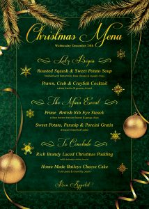 hip hop flyer christmas menu template v