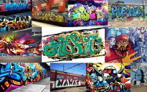 hip hop flyer graffitti mood board