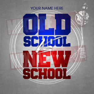 hip hop flyer old school vs new school psd