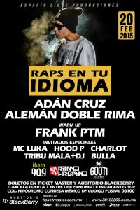 hip hop flyer raps en tu idioma flyer