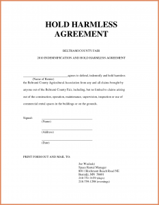 hold harmless agreement form hold harmless agreement sample hold harmless agreement template zadxgpt