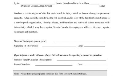 hold harmless agreement form hold harmless agreement template