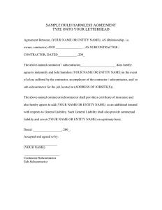 hold harmless agreement sample hold harmless agreement