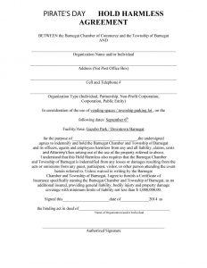 hold harmless agreement sample hold harmless agreement template