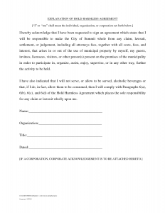 hold harmless agreement sample hold harmless agreement template kgxdlxks