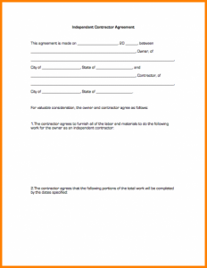 hold harmless agreement template contractor agreement form independentcontractoragreement